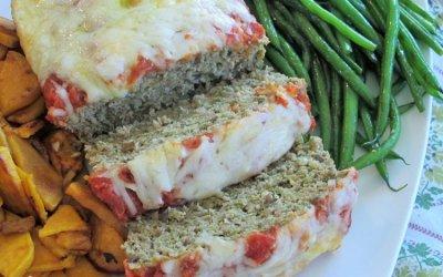 Italian Pesto Turkey-Mushroom Meatloaf