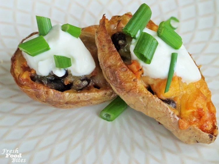 6-Ingredient Mexican Chicken Potato Skins