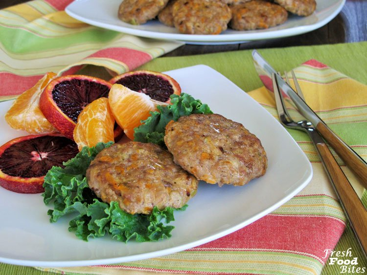 These gluten free, no-sugar-added, dairy free, egg free Sweet Potato-Apple Breakfast Sausages are going to become your new BFF for breakfast and brunch. They are healthier than typical packaged breakfast sausages, are easy to make, and can be made ahead, which will make life much less stressful as you're cooking brunch or when you need a quick protein-packed breakfast at your fingertips.
