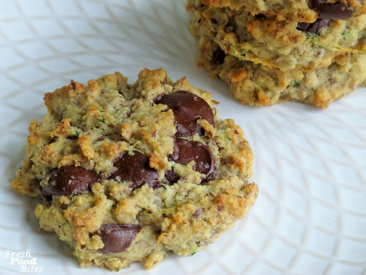 Looking for a way to use leftover strained almonds from making almond milk? Look no further than these Zucchini-Almond Gluten-Free Oatmeal Chocolate Chip Cookies. They have health benefits from the added flax and zucchini, but don't worry, these cookies don't taste like a vegetable. They're a decadent treat, and, if you need to avoid gluten or dairy, they are gluten free and dairy free!