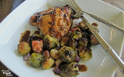 Roasted Brussels Sprouts and Chicken Sheet Pan Dinner