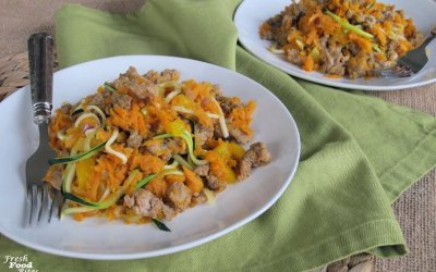 Sweet Potato Turkey Sausage Breakfast Skillet