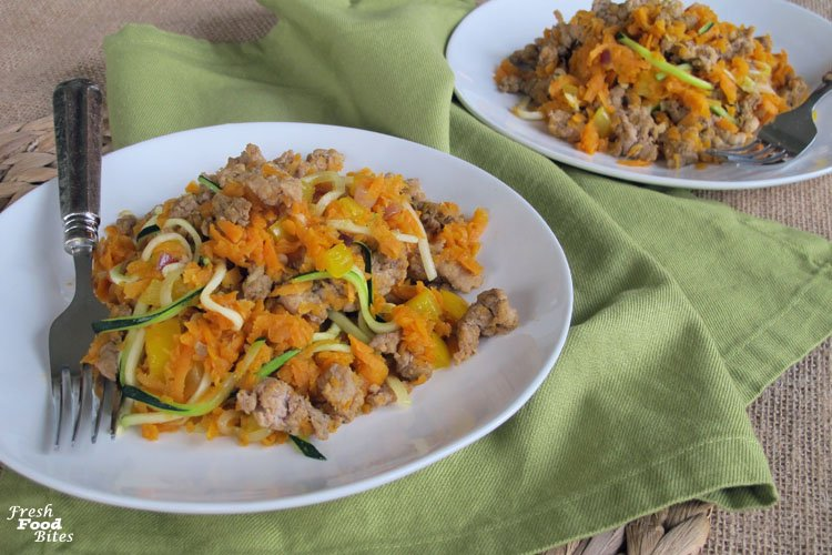 Sweet Potato Turkey Sausage Breakfast Skillet