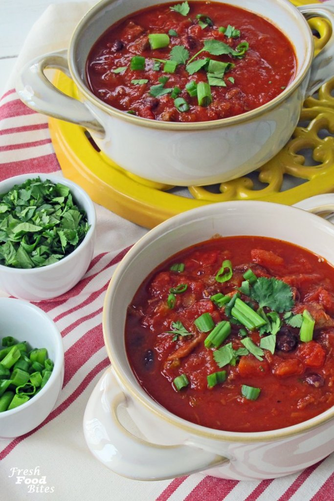 Looking for a new chili recipe you can make in your instant pot? Try this Instant Pot Beef and Black Bean Chili. It's thick, chunky and has all the best parts of chili plus the addition of a few Mexican inspired ingredients, taking the flavor to another level. It's quick and easy to make, and you can make it as spicy or mild as you like!