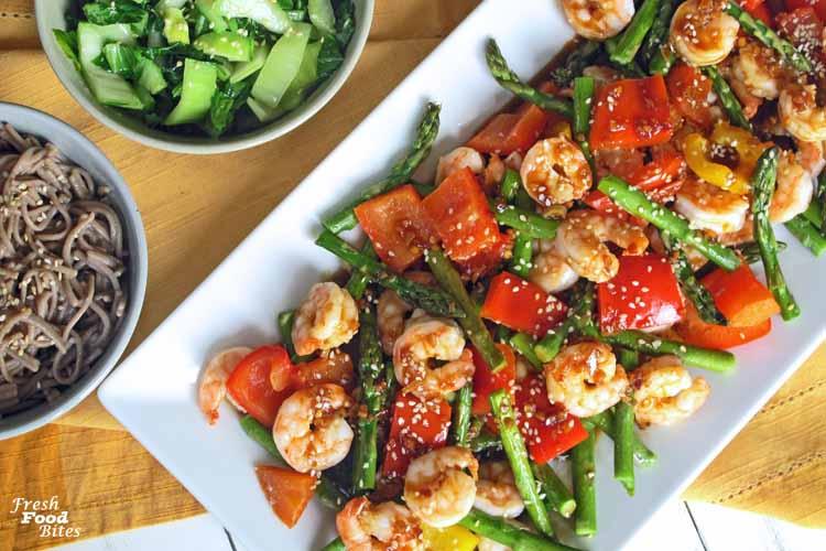 Ginger-Orange Shrimp and Vegetables Sheet Pan Dinner