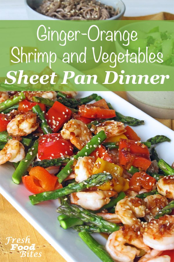 Whether you need to get dinner on the table quickly or not, this Ginger-Orange Shrimp and Vegetables Sheet Pan Dinner will soon become a family favorite. Drizzled with an Asian inspired sweet and savory sauce that can be spicy if you like, the shrimp and vegetables are full of flavor, but this sheet pan dinner will not take long to get to the table.