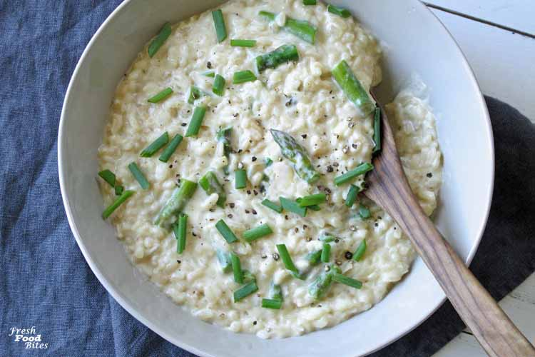 Dairy Free Asparagus Risotto