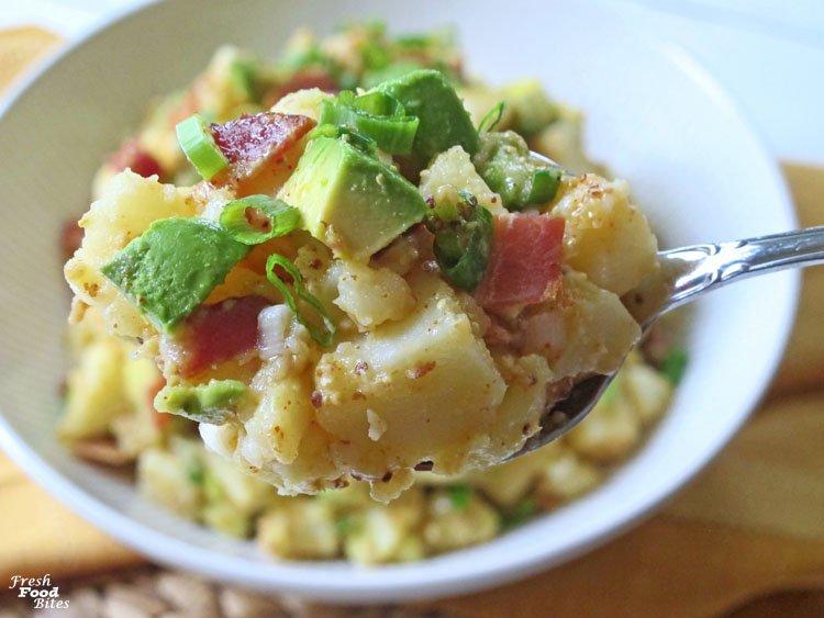 Bacon-Avocado Egg-Free Potato Salad