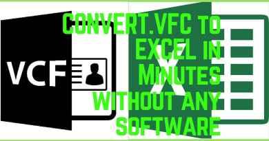 convert vfc to excel