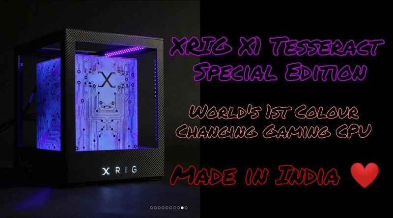 xrig x1 tesseract worlds first glowing desktop