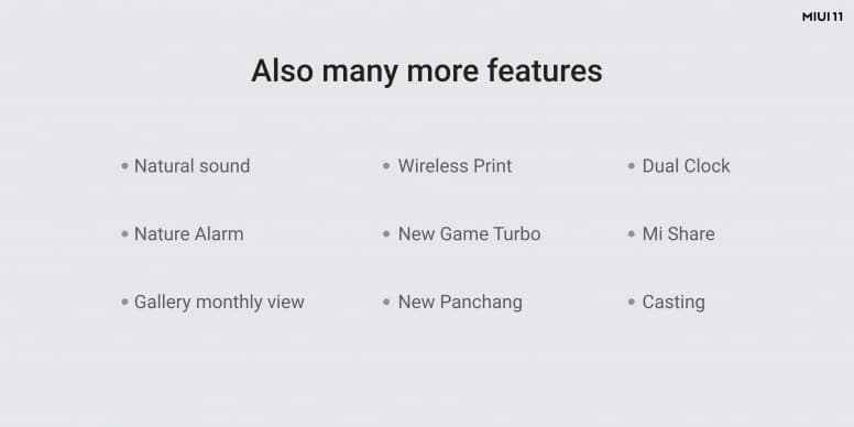 miui 11 extra features and updates for all the devices