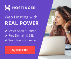 Hostinger Affiliate banner is the best hosting provider at a very cheap rate with a good add revenue