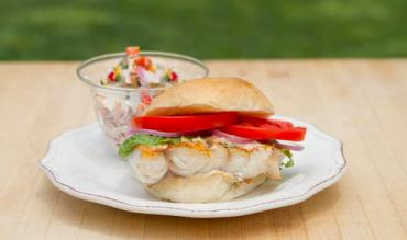Grouper Sandwich with New Potato Salad