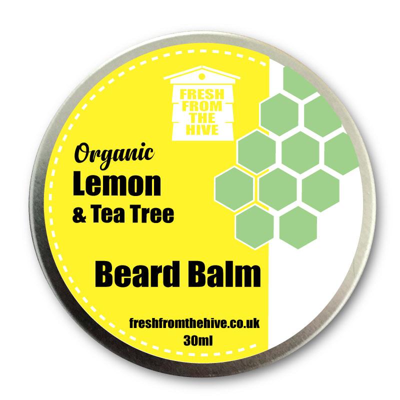 organic lemon and tea tree beard balm