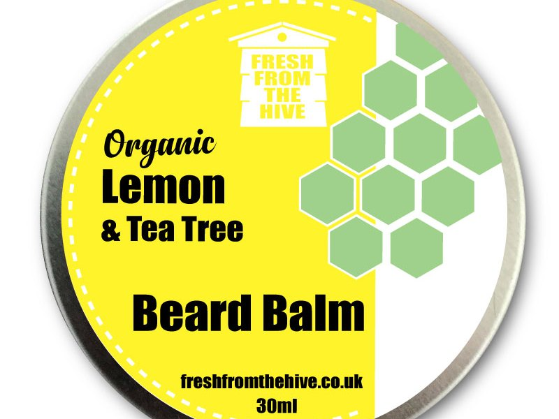 organic lemon and tea tree beard balm