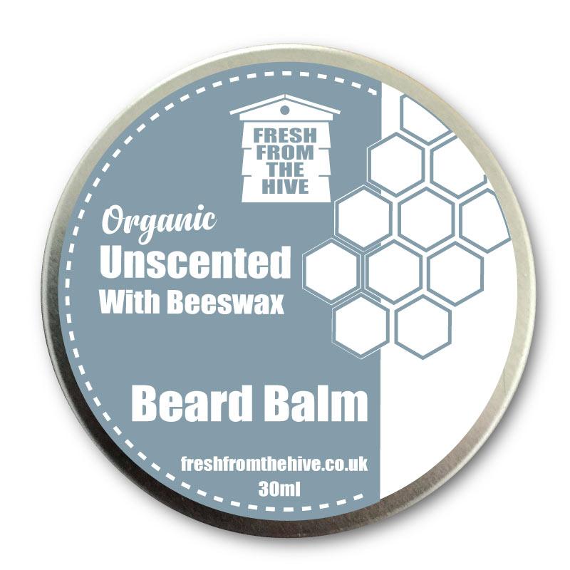 Unscented organic beard balm