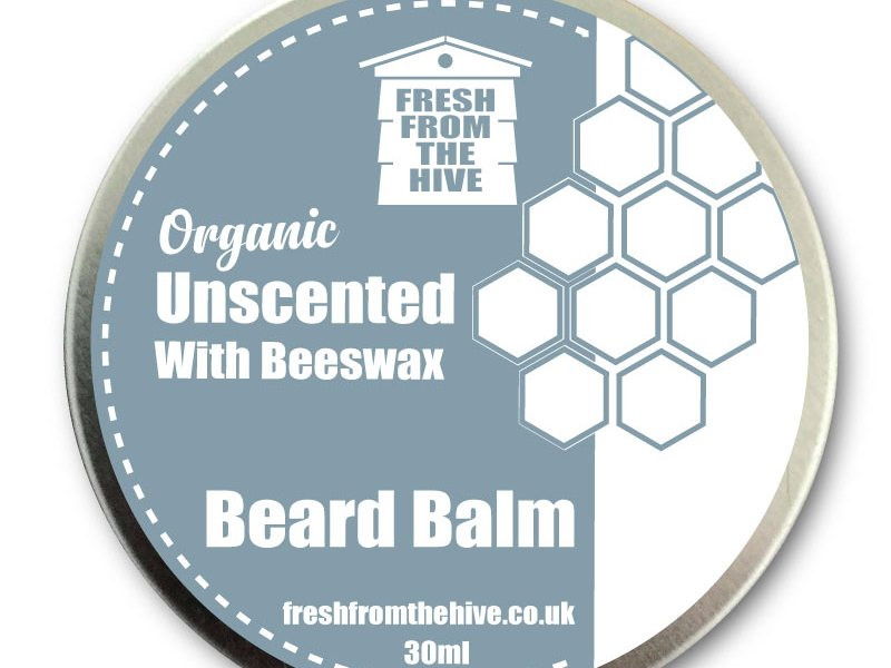 Unscented organic beard balm