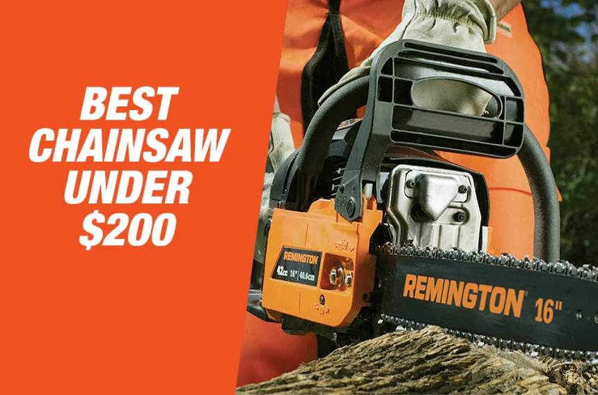 Best Chainsaw Under $200 in 2020 –  Reviews & Buyer's Guide