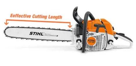 chainsaw cutting length