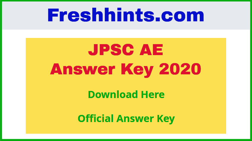JPSC Assistant Engineer Answer Key 2020