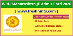 WRD Maharashtra JE Admit Card 2020
