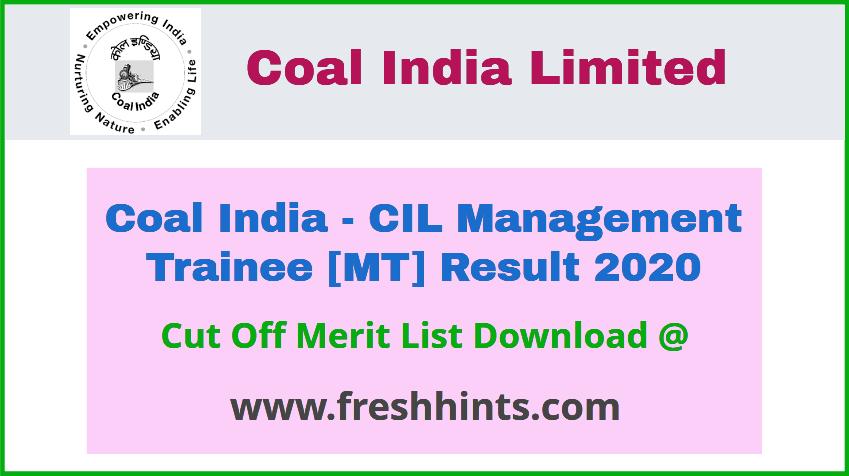 CIL Management Trainee Result 2020