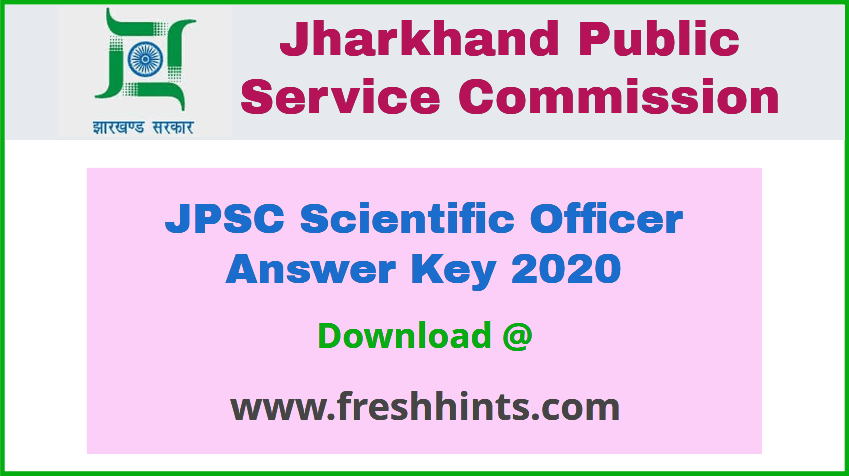 JPSC SO Answer Key 2020