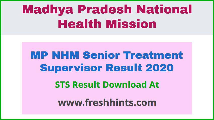 MP NHM Senior Treatment Supervisor Result 2020
