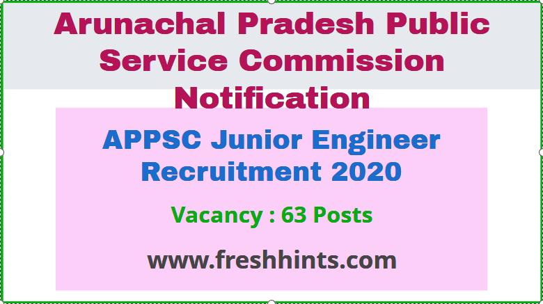 APPSC JE Recruitment 2020