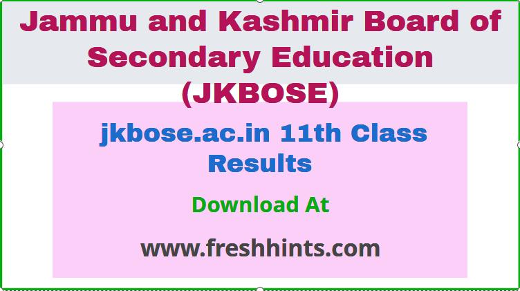jkbose.ac.in 11th Class Results
