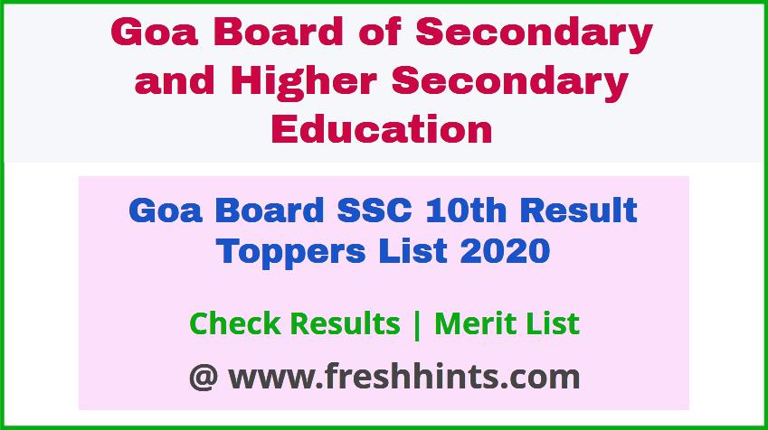 GBSHSE 10th Merit List 2020