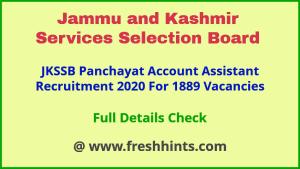 JK Accounts Assistant Jobs 2020