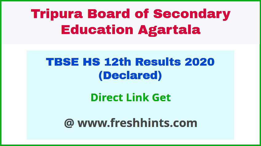 Tripura Board Class 12 Result 2020