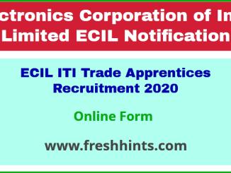 ECIL ITI Trade Apprentices Recruitment 2020