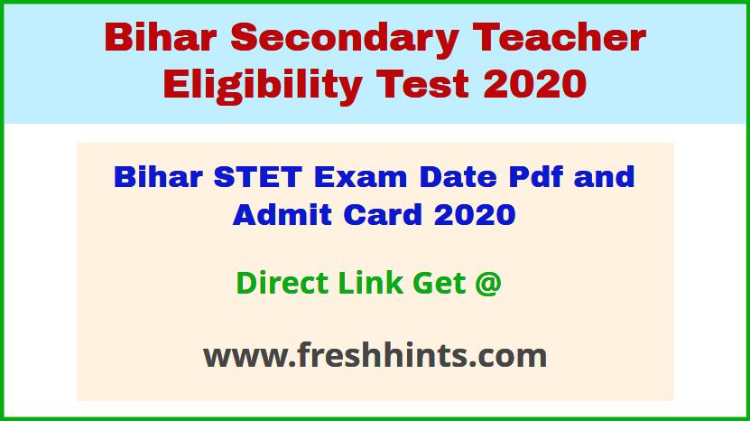 BSEB Patna STET Hall Ticket 2020
