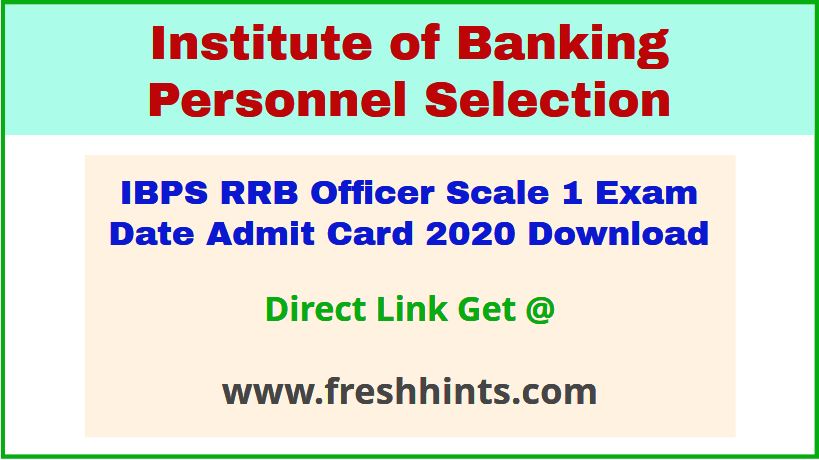 IBPS RRB IX Scale 1 Call Letter 2020