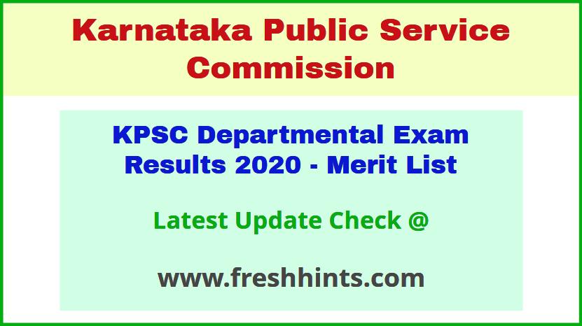 Karnataka Departmental Selection List 2020