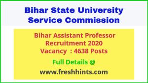 Bihar Assistant Professor Recruitment 2020