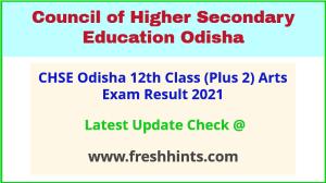 CHSE Odisha Class 12 Arts Exam Results 2021