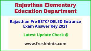 Rajasthan DELED Entrance Exam Answer Key 2021