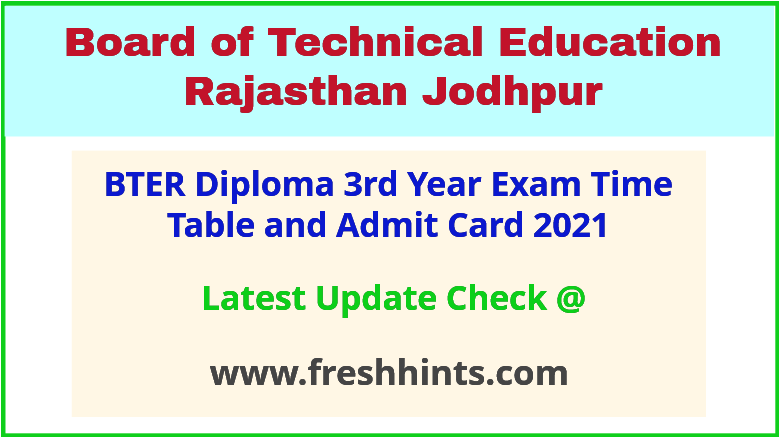 Rajasthan Polytechnic Diploma 3rd Year Permission Letter 2021