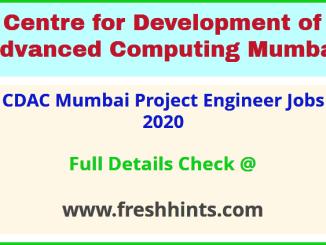 CDAC Mumbai Project Engineer Jobs
