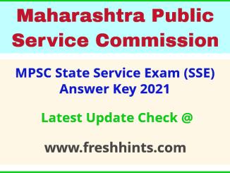 Maharashtra SSE Answer Sheet 2021