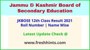 JK Board Higher Secondary Exam Results 2021