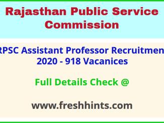 Rajasthan College Lecturer Bharti 2020