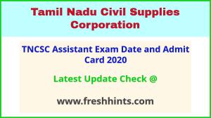 Tamil Nadu Civil Supplies Corporation Assistant Hall Ticket 2020