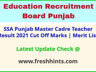 ERB Punjab Teacher Selection List 2021