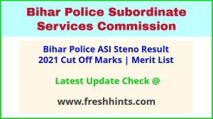 BPSSC Stenographer Assistant Sub Inspector Selection List 2021