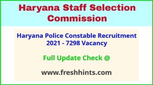 HSSC Haryana Police Constable Vacancy Bharti 2021