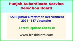 SSSB Punjab Junior Draftsman Vacancy 2021 Full Details Pdf